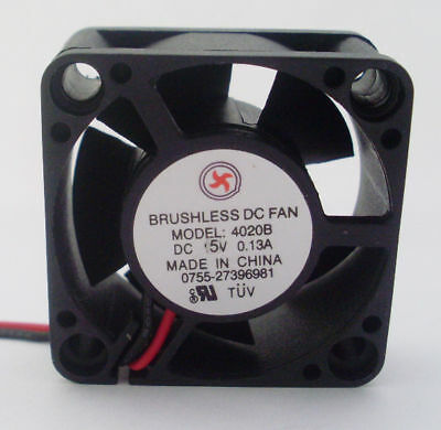 1pc 40x40x20mm 5V 40mm 4020 Brushless DC Cooling Fan 5 blade 2pin 2.54 Connector