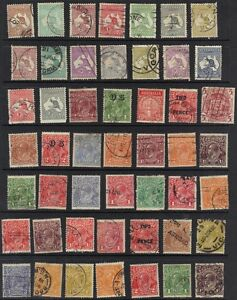 AUSTRALIA-1913-COLL-OF-93-EARLY-CLASSIC-ISSUES-100-AFTER-1937-INC-SOME-MINT