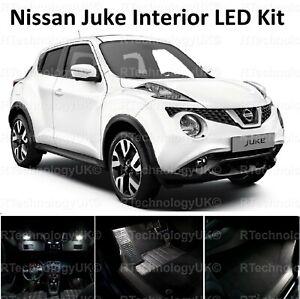 Premium-Nissan-Juke-Interior-LED-blanco-Upgrade-Kit-Set-Libre-De-Errores-Xenon