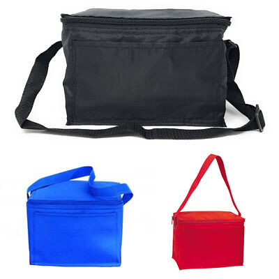 Insulated Cooler Lunch Box Bag 6 Pack Picnic Beer Drink Water 9 X 1 4 Ebay