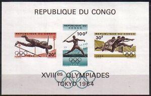 Republique-du-Congo-BL14-549A-549B-550A-Jeux-Olympiques-de-Tokyo-MNH