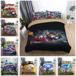 3D Super Mario Bedding Set 2PC/3PC Of Duvet Cover & Pillowcase For Kids Children