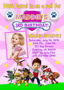 photo about Paw Patrol Printable Birthday Card named Info more than PAW PATROL Personalized PRINTABLE BIRTHDAY Occasion INVITATION Cost-free THANK U CARD