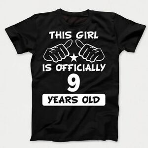 Image Is Loading Funny 9th Birthday Kids Shirt This Girl