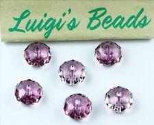 6 Crystal Antique Pink Swarovski 5040 Rondelles Rondell Spacer Beads 8mm