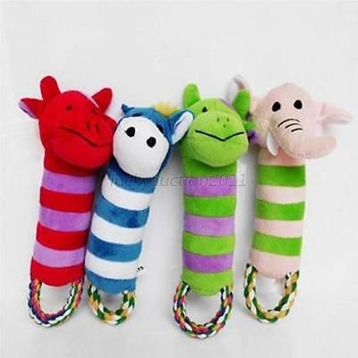 New Dog Toy Pet Puppy Plush Sound Chew Squeaker Squeaky Cute Animal Shape Toys