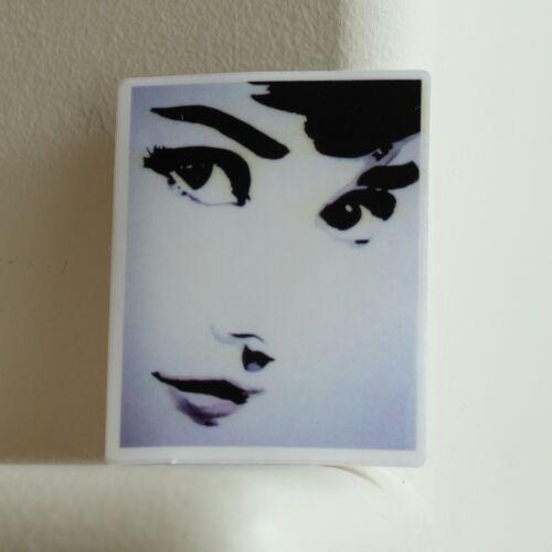 translucent Audrey Hepburn Vintage Art 6.5x8cm Glass Window DECAL STICKER