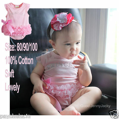 Newborn Baby Girl Sky Blue Pink Lace Petti Romper with Strap For Size NB-3Year