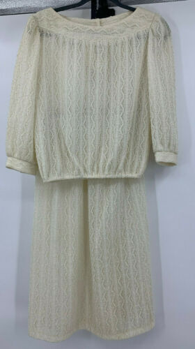 Vintage Ms Sugar Blouse and Skirt Set Size 10 Ope… - image 1