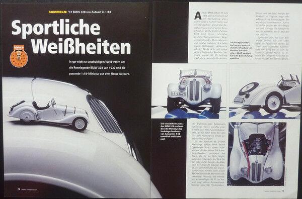 ' 37 Bmw 328 Roadster In 1-18 Di Autoart... Un Modello Relazione #2004 Caldo E Antivento