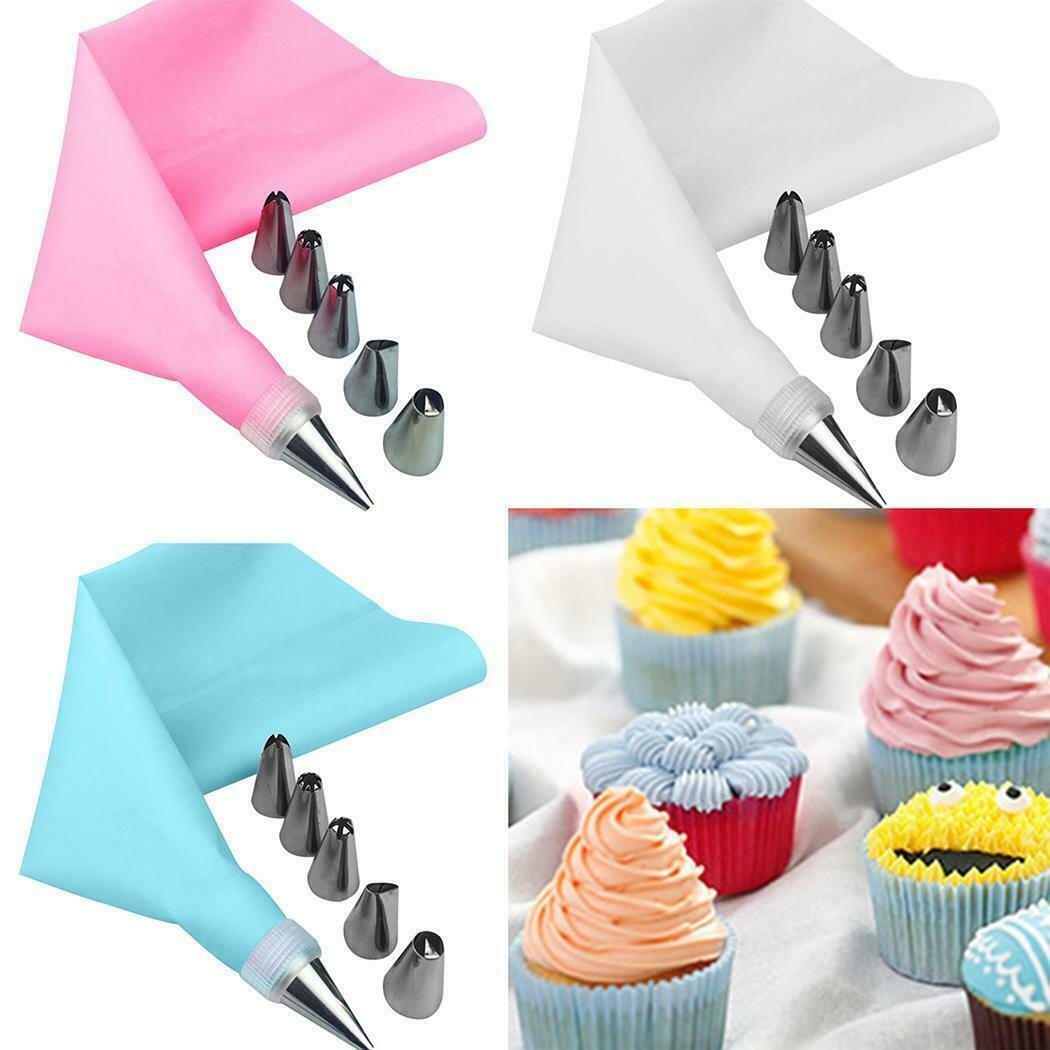 8Pcs//Set Pastry Icing Piping Cream Bag Stainless Steel Nozzles Tool Cake Decor