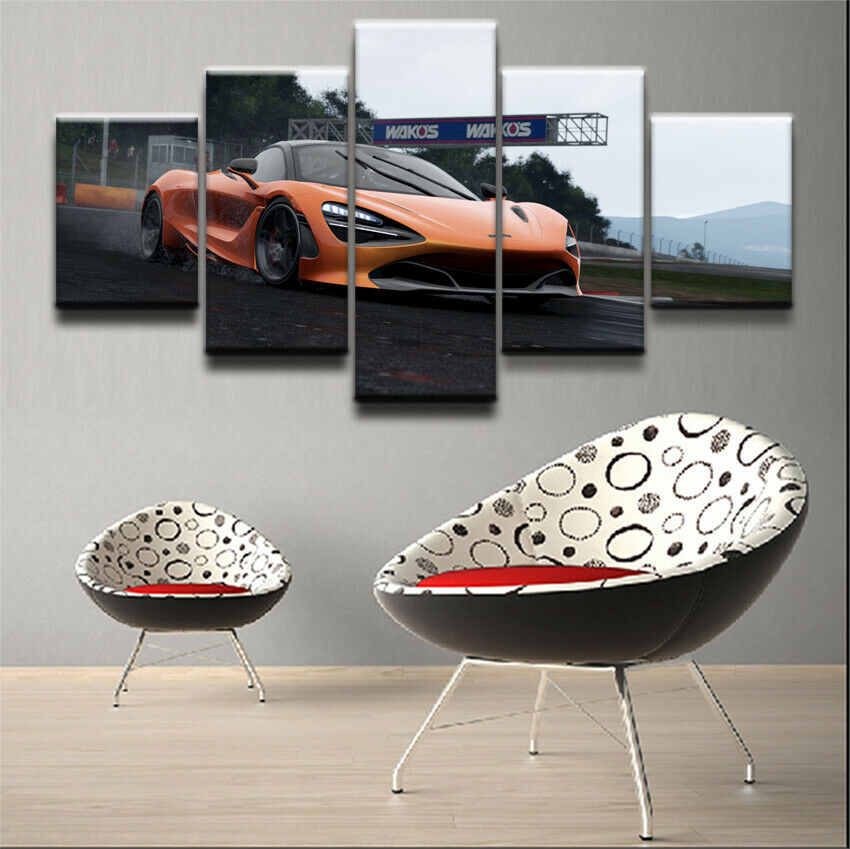 McLaren 720S Sports Car 5 Pieces Canvas Wall Art Poster Print Home Decor