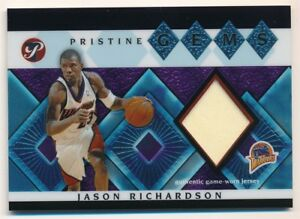 JASON-RICHARDSON-2003-04-TOPPS-PRISTINE-GEMS-WARRIORS-RELIC-GAME-JERSEY-SP-F1
