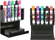 Black Acrylic Wall Mounted Dry Erase Marker Organizer Holder Rack Set Of 2