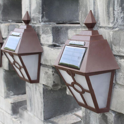 Solar Lights Outdoor Decorative Solar Wall Sconce Waterproof Solar Torch Lights