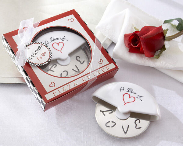 100 Pizza Cutter in Miniature Pizza Box Wedding Favor Bridal Shower Favors