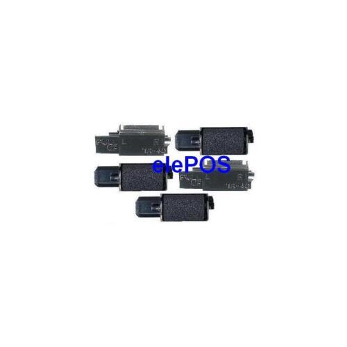 5 pack-ink Roller per adattarsi SHARP xe-a107 NERO CASH REGISTER