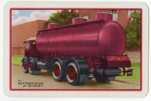 Playing-Cards-Single-Card-Old-BUTTERFIELDS-of-SHIPLEY-Tanker-Lorry-Advertising-1