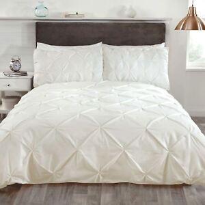 Blattschnitt Stecknadel Tuck Creme Einzelbettbezug Set Luxus Bettwäsche