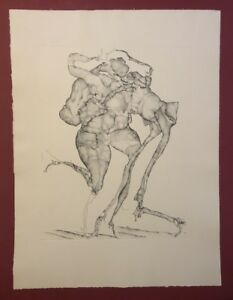 Horst-Janssen-gedacht-wie-Zeichnung-1964-Radierung-aus-dem-Nachlass