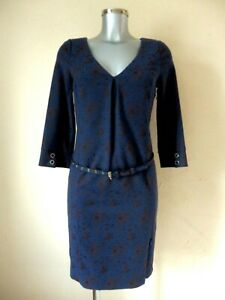 PATRIZIA-PEPE-Dress-T-42it-Either-38fr-Blue-Brown-New-Authentic