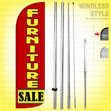 Furniture Sale Windless Swooper Flag Kit 15 Feather Banner Sign Rq96 H