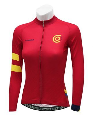 2018 Suarez Colombian Collection Women/'s Short Sleeve Cycling Jersey in Red