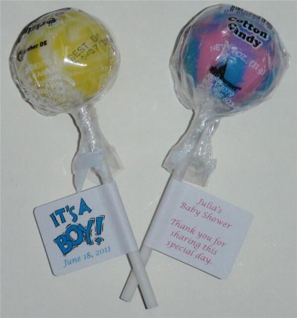 30 Baby Shower Footprints Personalized Lollipop Stickers Labels