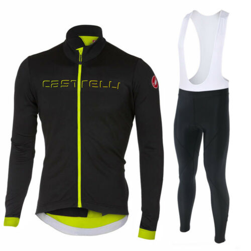 Mens Long Sleeve Cycling Jersey Jacket Tights Bicycle Cool Breathable Clothing