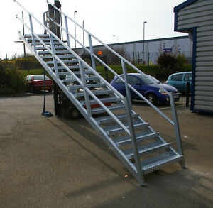 Steel Stair Mezzanine Floor Utility Custom Staircase