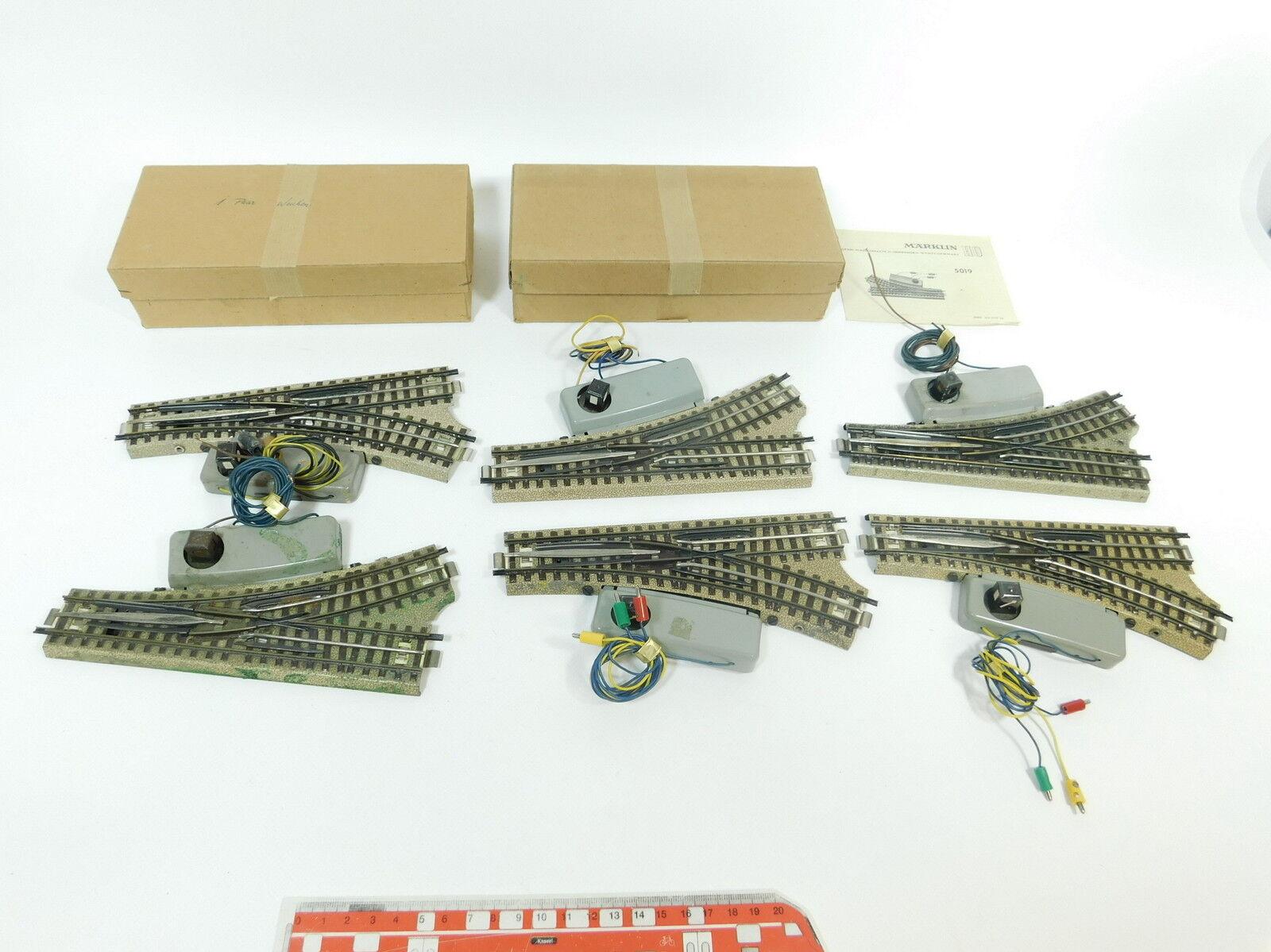BB892-2x Märklin H0 00 AC Bastler-E-Weiche (M-Gleis) für 3600 800, 2x OVP