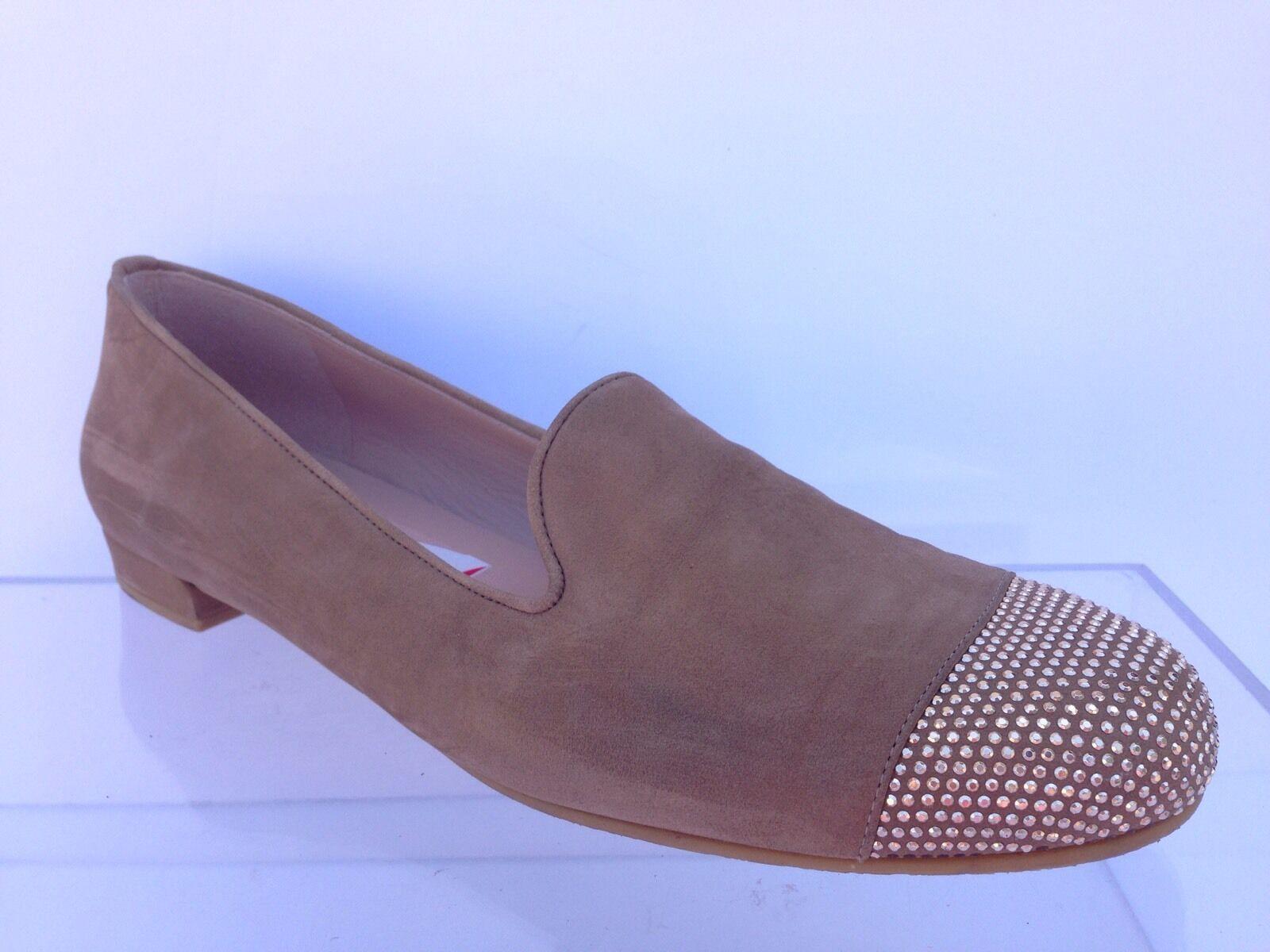 Stuart Weitzman Lingo Damenschuhe Größe 9 N Braun Loafers Schuhes