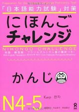 NIHONGO CHALLENGE KANJI  N4 N5 Learn Japanese Text Book Free Shipping NEW!