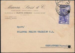 AA6612-Marcora-Bossi-amp-C-Busto-Arsizio-1953-Cartolina-commerciale-d-039-epoca