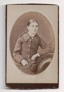 Vintage-CDV-Unknown-Young-lady-Cameo-Photo-by-J-Grey-Stonehouse-Devon