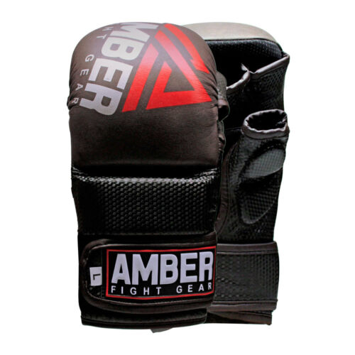 Contender Sparring MMA REAL Leather Hybrid Grappling Gloves MMA Punch Bag Gloves