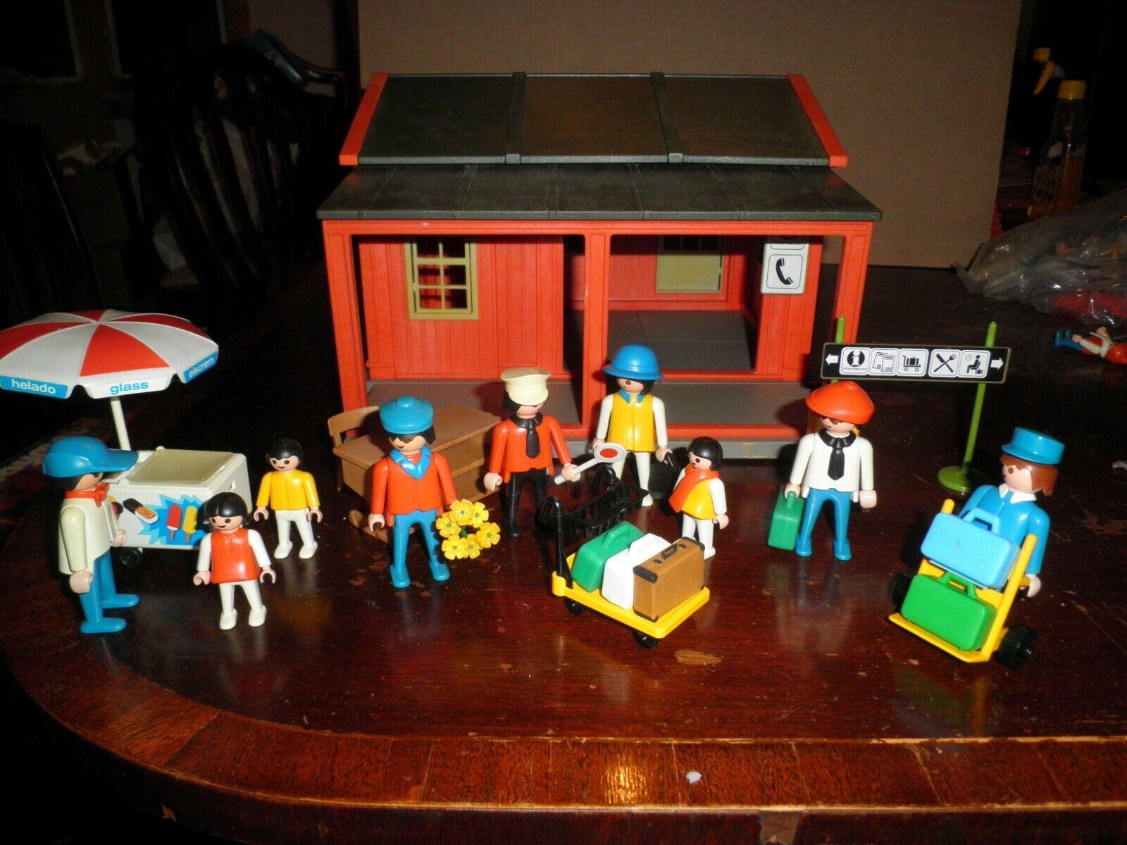 Playmobil vintage 4301 Riverdale Station De Train Western 3563 Crème Glacée Panier