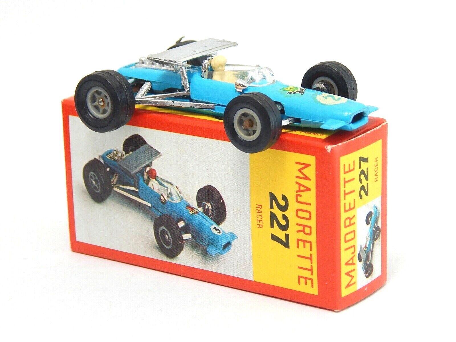Racing voiture Racer Lotus bleu  2  Majorette 227 1 65 Made in France Paper Box RARE  obtenir la dernière