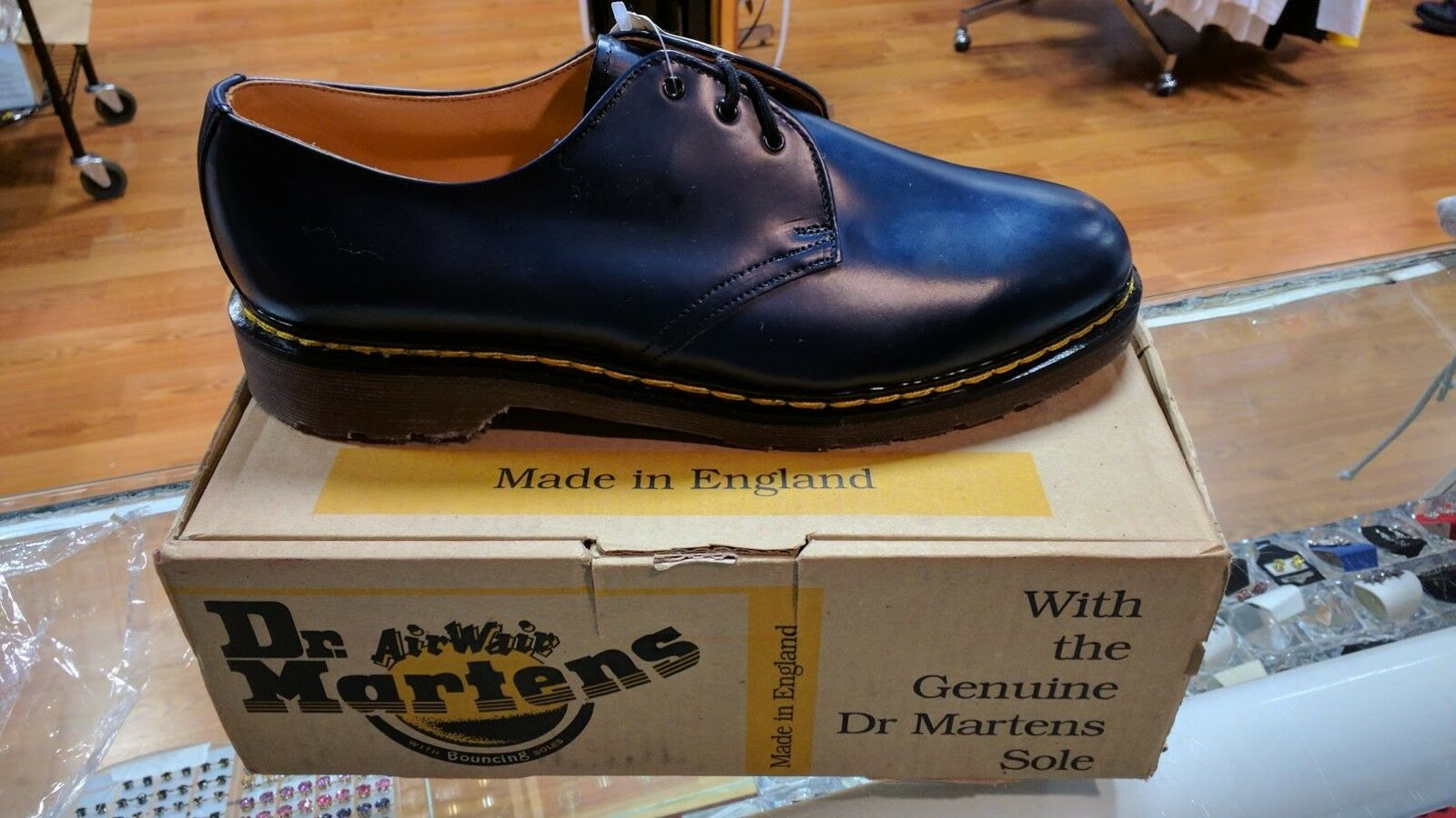 Vintage 1461 Dr Martens Airwair Shoes Navy Blue - BRAND NEW