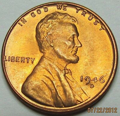 """1954-D Lincoln Wheat Cent /""""BU Red/"""" *Free S//H After 1st Item*"""