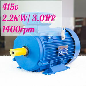 2-2kw-3HP-1400rpm-shaft-28mm-Electric-motor-Three-phase-415v