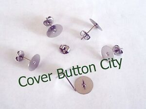 Image Is Loading Nickel Free Anium Earring Posts And Backs Choose