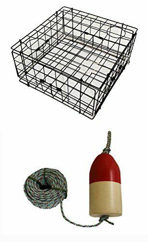 KUFA Vinyl Coated Crab Trap, 1 4  x 100' Lead Rope and 5 x11  Float (S60+FQL100)