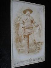 Cdv photograph man in rope string suit by Benzinger Schrobenhausen Germany 1880s