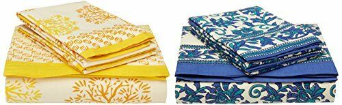 TRADITIONAL MAFIA RSES655038 Combo Bed Sheet Set, MultiFarbe, 90  x 108