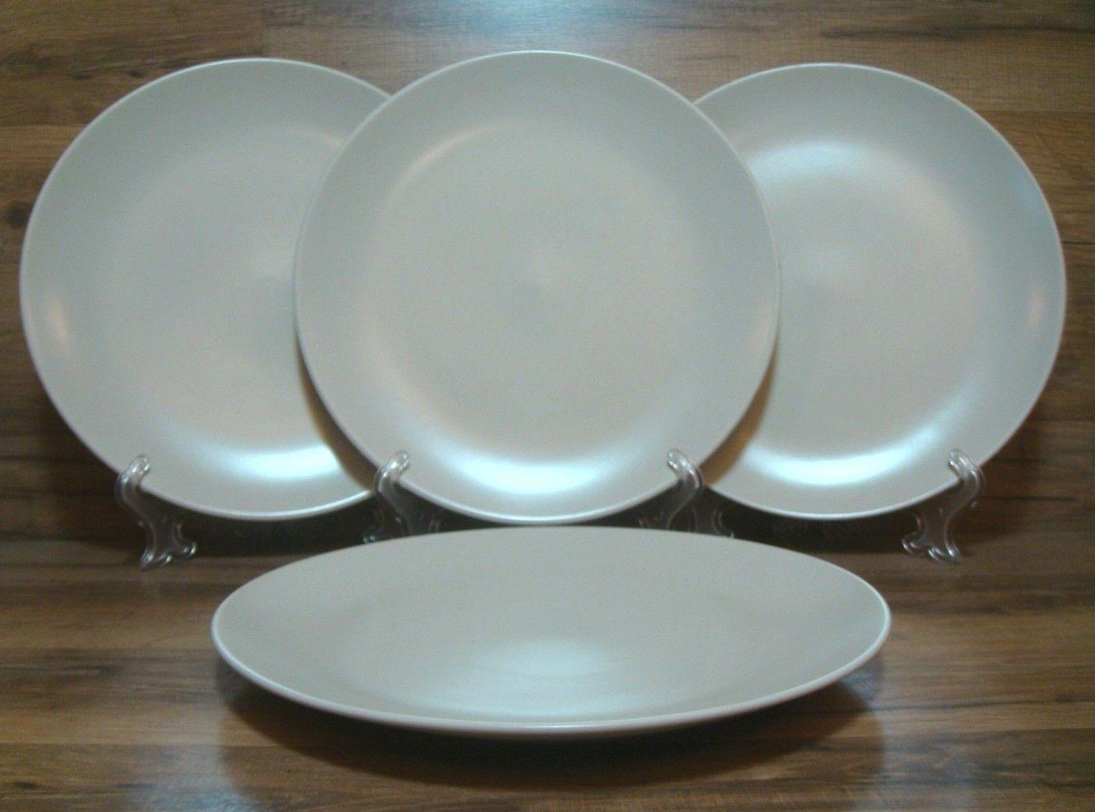 Set Of 4 Ikea Dinera Matte Beige 10 1 4 Dinner Plates Euc 10866 Ln For Sale Online