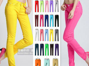 Womens-Stretch-Candy-Pencil-Pants-Casual-Slim-Fit-Skinny-Jeans-Trousers-24-Color