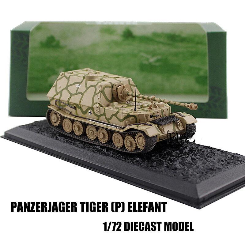 GERMAN PANZERJAGER TIGER P ELEFANT 173 1 72 DIECAST MODEL FINISHED TANK ATLAS