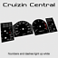 6 gauges speedo tacho dial gauge cluster Plastic BLACK DIALS for Patrol GQ