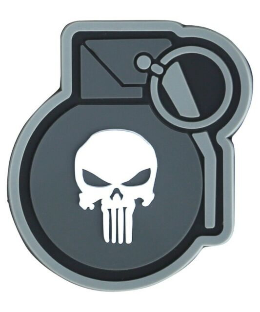 Punisher Kitty PVC Morale Patch 3D Airsoft Tactical Badge Hook #29